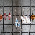 Christmas Easter Spring Football Fall Halloween Valentines Seasonal Ear Ring Set #2