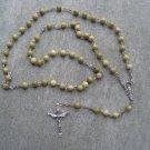 Jade Gemstone Rosary Silver Trinity Crucifix 6mm beads