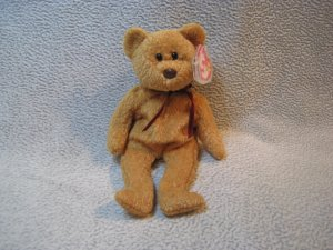 Curly the Bear TY Beanie Baby Retired MWMT