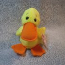Quackers the Duck TY Beanie Baby Retired MWMT