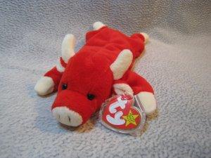 Snort the Bull TY Beanie Baby Retired MWMT