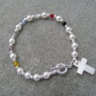 Salvation Bracelet Christian Czech Pearl Glass Crystals #2