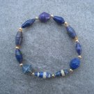 Purple Beaded Bangle Stretch Bracelet BeadforLife Gold Accents #14