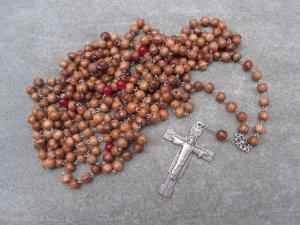 Olive Wood Red Quartz Orthodox Chotki Prayer Beads Risen Christ Crucifix 300 Bead