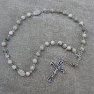 Peace Jade Gemstone Orthodox Chotki Prayer Beads Silver Crucifix 33 Beads