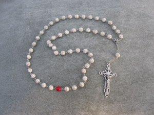 Magnesite Gemstone Orthodox Chotki Prayer Beads Silver Crucifix 50 beads 8mm