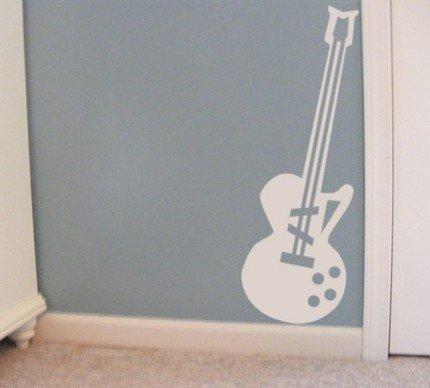 Guitar- vinyl graphics Decal
