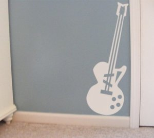 Guitar- vinyl graphics Decal