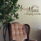 Music is What Feelings Sound Like wall Decal Words