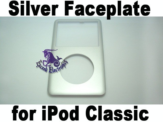 Genuine OEM Silver Metal Front Faceplate  Housing Fascia Cover for iPod 6th Gen Classic 80GB 160GB