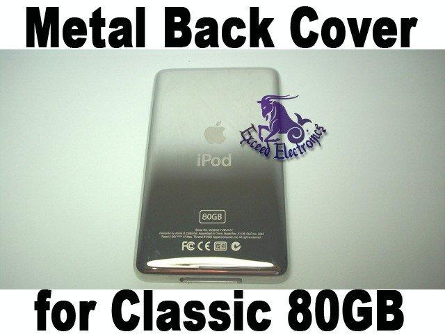 Genuine OEM  Matel Back Faceplate Housing Fascia Cover for iPod 6th Gen Classic 80GB