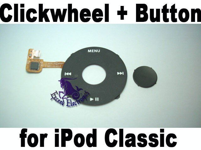 Genuine OEM Black Clickwheel+Button for iPod 6th Gen Classic 80GB 160GB
