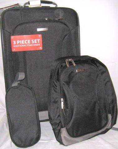 Embark 3 piece overnite luggage set(1 CASE=6 SETS)