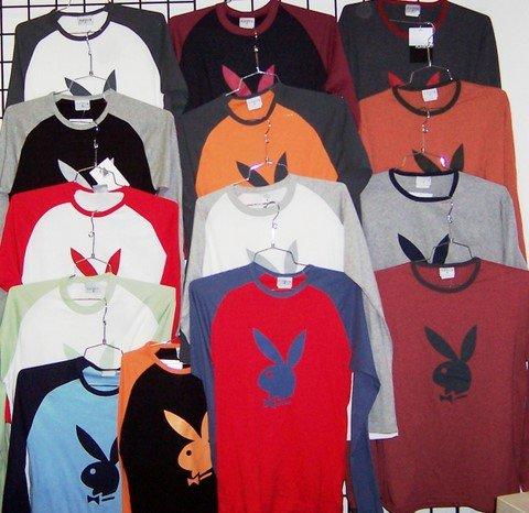 Wholesale �Playboy� men's long sleeve Ts (1 CASE=48)