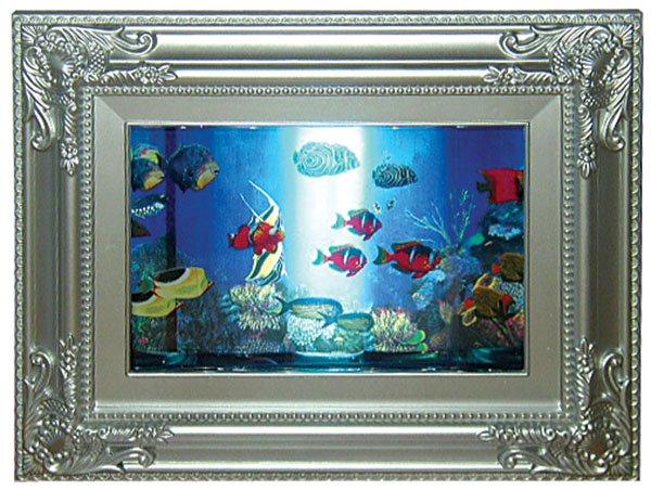 """photo-frame shape rotating fish aquarium lamp, size 10.5""""lx8.25""""h"""