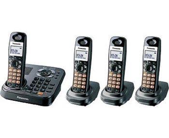 Panasonic KX-TG9344T Dect 6.0 Expandable Digital Cordless Answering System - 4 Handset System