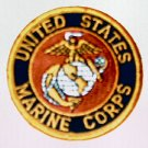 "UNITED STATES MARINE CORPS USMC 3"" Round Military Patch (silver globe)"
