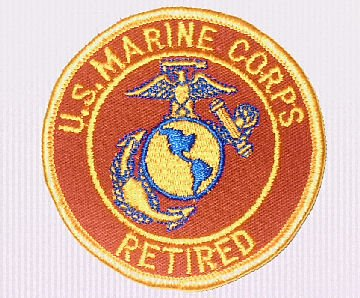 """UNITED STATES MARINE CORPS RETIRED 3"""" Round Military Patch"""