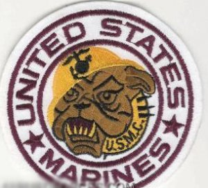 "UNITED STATES MARINE CORPS USMC BULLDOG 4"" Round Military Patch"