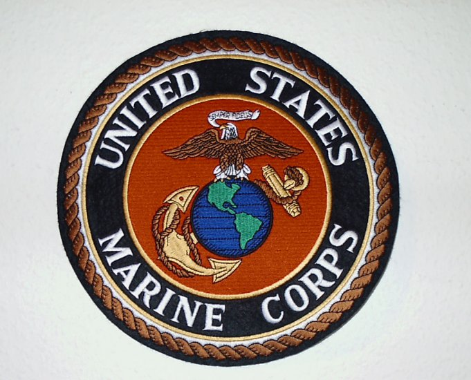 """RARE FIND~U.S. Marine Corps 10"""" Eagle Globe & Anchor Full Color Jacket Patch"""