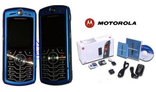 "Motorola L7 SLVR Limited Edition - ""Metallic Blue"" Ultra Slim Cellular Phone (Unlocked)"