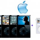 Apple iPod Video 30GB - 7500 Songs in Your Pocket (Black) + Clear Ipod Case FREE SHIPPING!!!!!