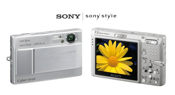 Sony DSC-T10 - 7.2 MegaPixels Digital Camera with 14X Smart Zoom FREE SHIPPING!!!!