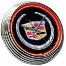Neon Clock Cadillac Crest FREE SHIPPING!!!
