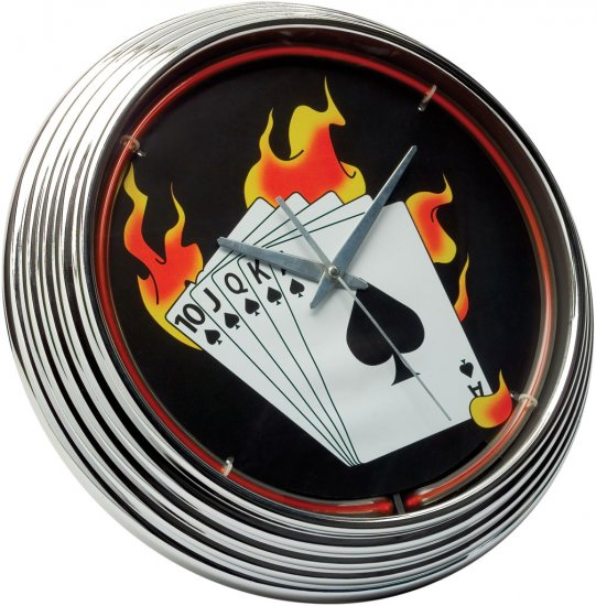 Neon Clock Poker FREE SHIPPING!!!
