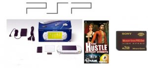 """Sony PlayStation Portable """"Ceramic White"""" 2GB Memory Card"""" + One Hot Game FREE SHIPPING!!!"""