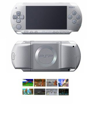"Sony PSP ""Limited Edition"" Silver + 41 Games FREE SHIPPING!!!!"