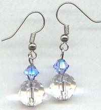 Blue and Clear Round Swarovski