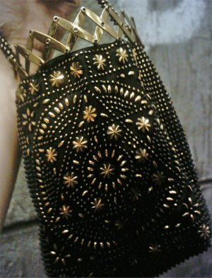 Beaded Purse with Metal opening