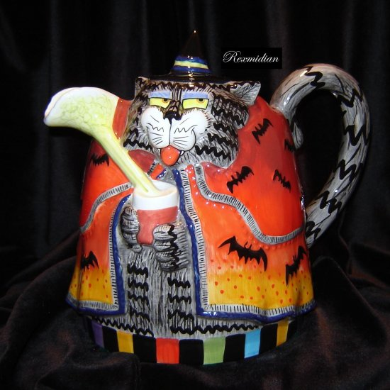 Fitz & Floyd - Kitty Witches Pitcher