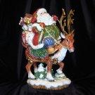 Fitz & Floyd Large Jolly Ole St. Nick Santa Figure - NIB