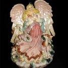 Fitz & Floyd  - Peaceable Kingdom Large Angel Vase - NIB