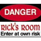Personalized DANGER Kids Bedroom Door SIGN
