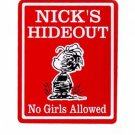 Personalized Red PIGPEN Kids Bedroom Door SIGN