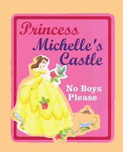 Personalized PRINCESS BELLE Girls Room Door SIGN