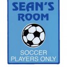 Personalized SOCCER Boys Bedroom Door SIGN