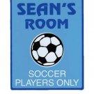 Personalized SOCCER Boys Bedroom Door SIGN