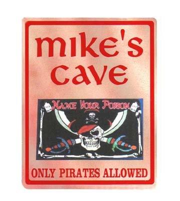 Personalized PIRATES CAVE Kiuds Bedroom Door SIGN