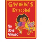 Personaliuzed DORA THE EXPLORER Girls Room Door SIGN