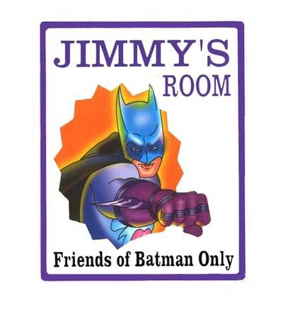 Personalized BATMAN Boys Bedroom Door SIGN