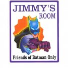 Personalized BATMAN Boys Bedroom Door SIGN