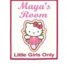 Personalized HELLO KITTY Girls Bedroom Door SIGN