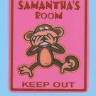 Personalized MONKEY Kids Bedroom Door SIGN