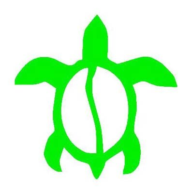 Green TURTLE Vinyl sticker/decal