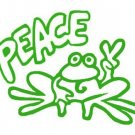 Green PEACE FROG Vinyl sticker / decal