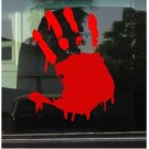 BLOODY ZOMBIE HAND PRINT vinyl car STICKER / DECAL